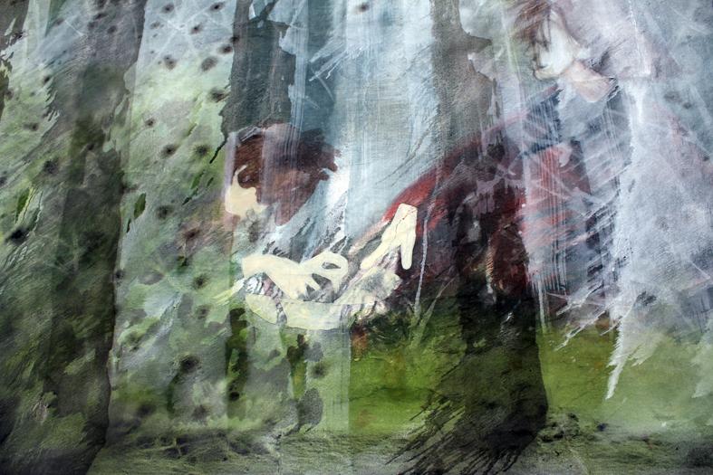 """Jan Stieding , """"tree tree tree tree tree me"""" , 2012 , oil on canvas, 150 x 200 cm"""
