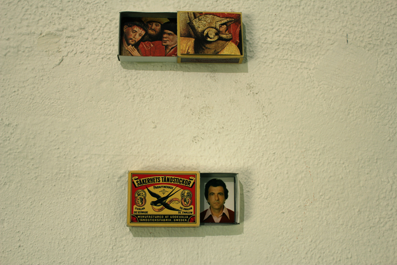 "Monika Koncz, ""Schöppinger Altar in a matchbox"" & ""My father in a matchbox "", 2012"