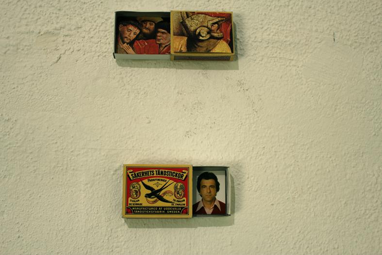 "Monika Koncz, ""Schöppinger Altar in a matchbox"" & ""My father in a matchbox "", 2012"