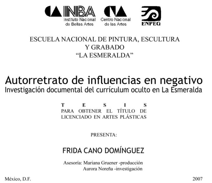 FRIDA CANO-0 Presentacion Autorretrato de influencias